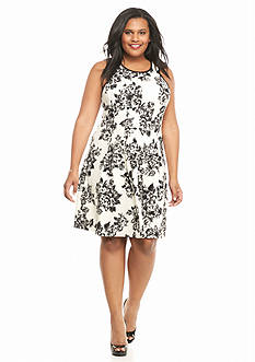 Sami & Jo Plus Size Fit and Flare Dress