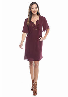 Sami & Jo Flutter Sleeve Shift Dress