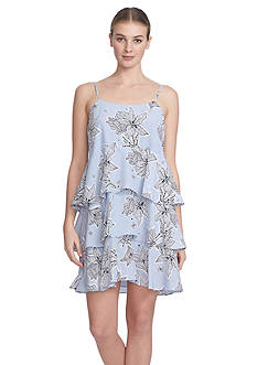 Cynthia Steffe Floral Printed Tiered Dress