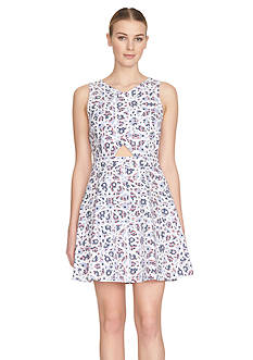 Cynthia Steffe Printed Fit and Flare Dress