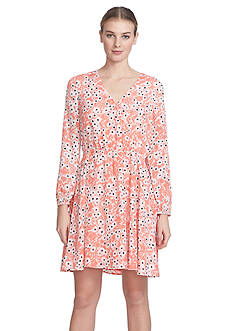 CeCe by Cynthia Steffe Floral Printed Dress