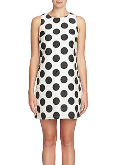 Cynthia Steffe Polka Dot Printed Shift Dress