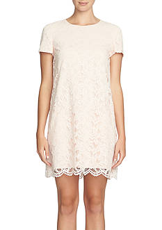 CeCe by Cynthia Steffe Floral Lace Shift Dress