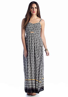 maia Printed Maxi with Cutout Waist