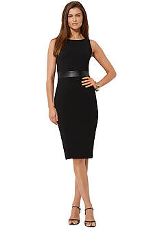 American Living&trade; Faux-Leather-Trimmed Dress<br>