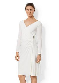 American Living™ Long-Sleeved Surplice Dress