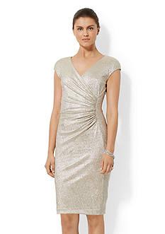 American Living&trade; Metallic Surplice Dress<br>