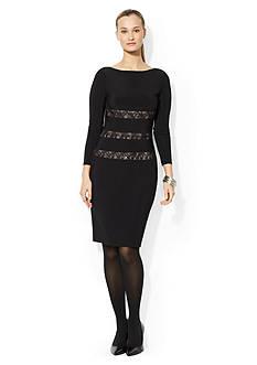 Lace-Paneled Dress