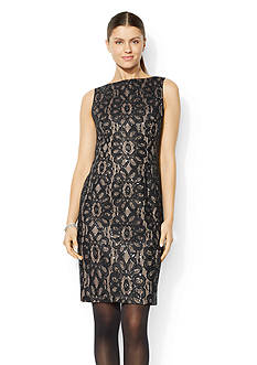 American Living™ Sequined-Lace Shift Dress