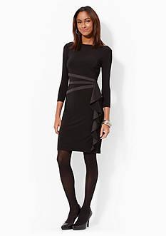 American Living™ Ruffled Satin-Trimmed Dress