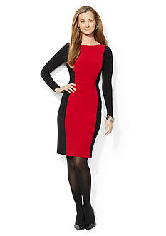 American Living™ Ruched Colorblock Dress