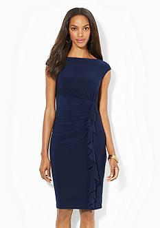 American Living&trade; Ruffled Boat-neck Dress<br>