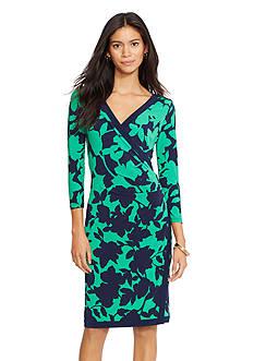 American Living&trade; Printed Surplice Dress<br>