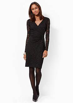 American Living™ Lace Surplice Dress