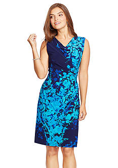 American Living™ Ruched Floral Dress
