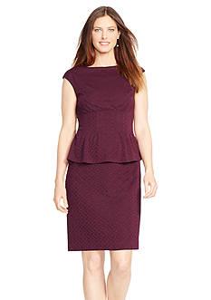 American Living™ Jacquard Peplum Dress