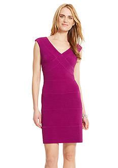 American Living™ Rib-Knit Jacquard Dress