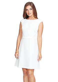 American Living™ Lace-Panel Jacquard Dress