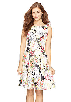 American Living™ Floral Neoprene Dress