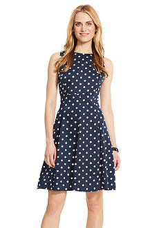 American Living™ Polka-Dot Sateen Dress