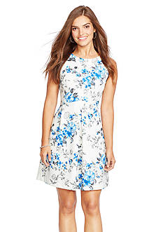 American Living™ Floral Fit-and-Flare Dress