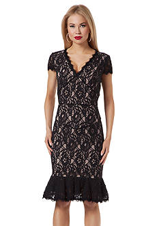 NUE by Shani™ Allover Lace Sheath Dress