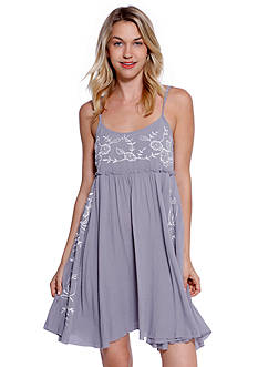 Taylor & Sage Embroidered Baby Doll Dress