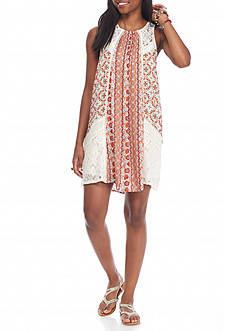 Taylor & Sage Mix Printed Lace Dress