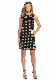 Robbie Bee Polka Dot Shift Dress