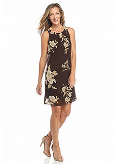 Robbie Bee Floral Printed Shift Dress