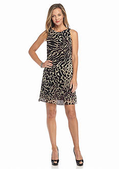 Robbie Bee Animal Printed Shift Dress