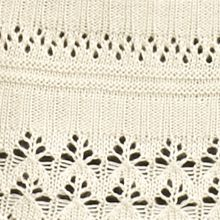 Robbie Bee: Natural Robbie Bee Elbow-Sleeve Crochet Trim Shrug