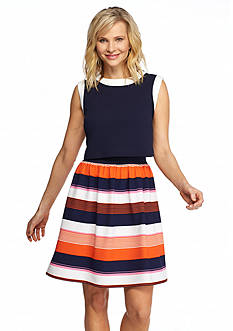 Robbie Bee Textured Knit Two-Piece Popover Dress