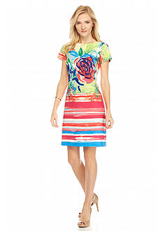 Robbie Bee Printed Sheath Dress