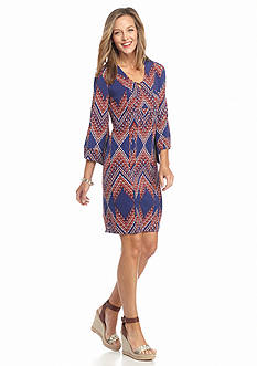 Robbie Bee Printed Shift Dress