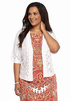 Robbie Bee Plus Size Elbow-Sleeve Shrug