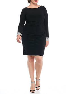 Marina Plus Size Drape Back Cocktail Dress