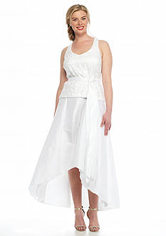 Marina Plus Size High Low Hem Gown