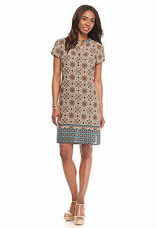 Danillo Boutique Printed Shift Dress