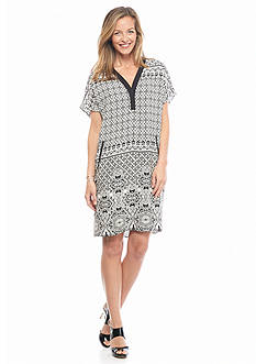 Danillo Boutique Printed Crepe Shift Dress