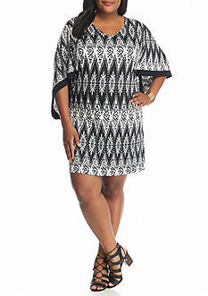 Danillo Boutique Plus Size Printed Shift Dress