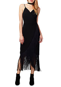 RACHEL Rachel Roy Fringe Hem Dress