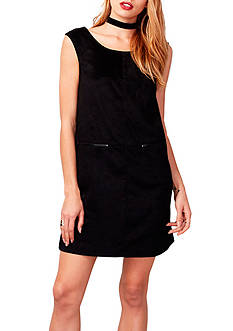 RACHEL Rachel Roy Faux Suede Shift Dress