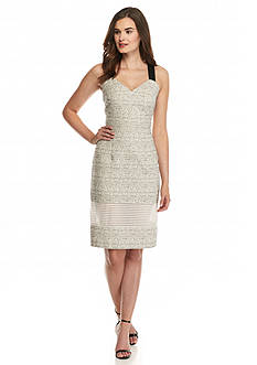 RACHEL Rachel Roy Tribal Printed Jacquard Sheath Dress