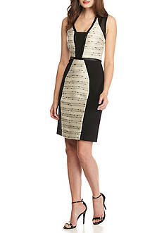 RACHEL Rachel Roy Mixed Media Sheath Dress
