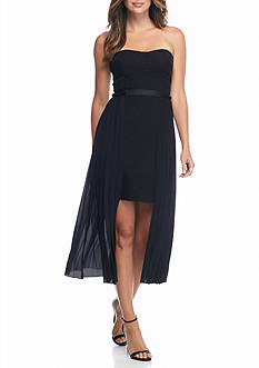 RACHEL Rachel Roy Strapless Chiffon Overlay Dress