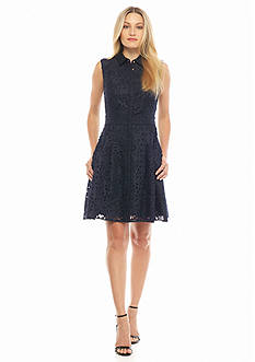RACHEL Rachel Roy Laser Cut Shirt Dress