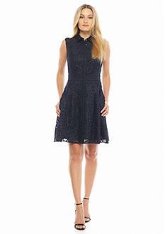 RACHEL Rachel Roy Laser Cut Shirt Dress