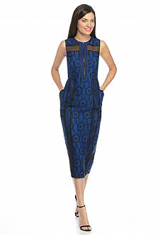 RACHEL Rachel Roy Lace Midi Sheath Dress