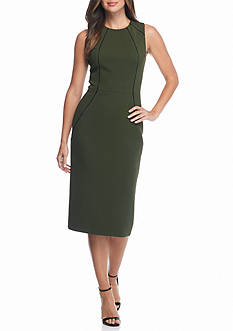 RACHEL Rachel Roy Jacquard Midi Sheath Dress